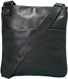 BACCINI Umhängetasche echt Leder Matteo Schultertasche 11 Zoll Laptop Handtasche mit Schultergurt Ledertasche Unisex schwarz