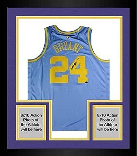 Framed Kobe Bryant Los Angeles Lakers Signed Nike Hardwood Classics Throwback Jersey (Panini Authentic) - Panini Certified