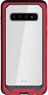 Ghostek Atomic Slim Clear Wireless Charging Case Designed for Samsung Galaxy S10 – Red
