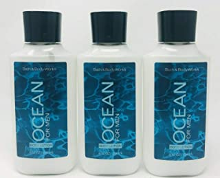 Lot of 3 Bath & Body Works Ocean for Men Body Lotion 8 Fl Oz Each (Ocean for Men)