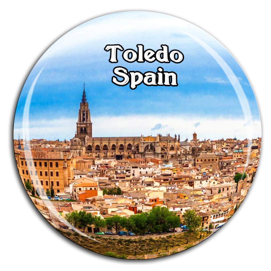 Catedral de Toledo, España, Imán de Nevera, Cristal 3D, Ciudad Turística, Viaje, Recuerdo, Colección, Regalo, Fuerte, Refrigerador, Pegatina: Amazon.es: Hogar