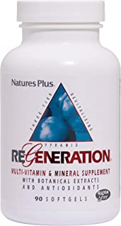 NaturesPlus Regeneration Multivitamin - 90 Softgels - With Potent Botanical Extracts, Minerals & Antioxidants - Natural En...