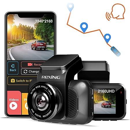 REXING V5 Dash Cam 4K Modular Capabilities 3840x2160@30fps UHD WiFi GPS Car Camera Recorder Night Vision,Loop Recording,Parking Monitor,Supercapacitor,Support 256GB Max,Voice Control (2021)
