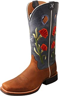 Twisted X Women's Ruff Stock Boot, Color: Brown/Navy (WRS0031)