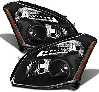 ACANII - For Black 2007-2008 Nissan Maxima Projector Headlights Headlamps Replacement Driver + Passenger Side