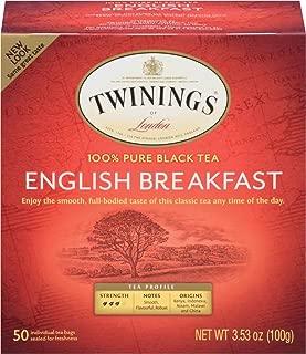 Twinings of London English Breakfast Tea, 50 Count