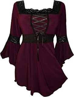 Dare to Wear Renaissance Corset Top: Victorian Gothic Boho Women's Peasant Blouse for Everyday Halloween Cosplay Festivals
