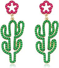 Seni Bead Drop Earrings for Women Handmade Seed Bead Earrings Boho Beaded Dangle Studs Earrings for Girls