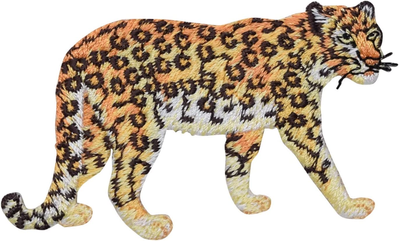 Leopard High Sales for sale material Embroidered Iron on Patch