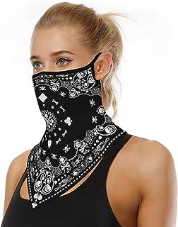 Face Scarf for Men Women Seamless Bandana with Ear Loops Dustproof Windproof Sun