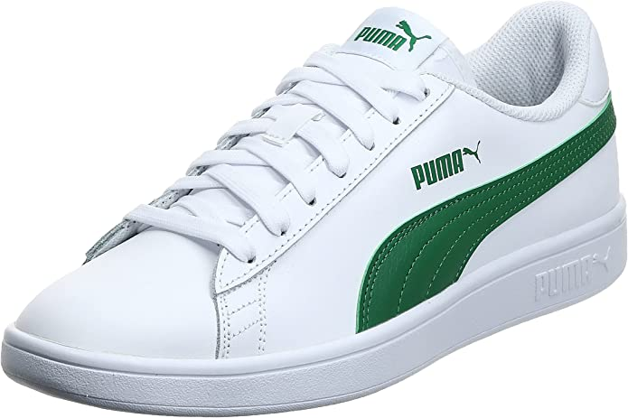PUMA Unisex Adults' Smash V2 L Low-Top Sneakers, White-Amazon Green