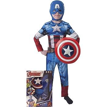Rubies Avengers - Disfraz de Capitán América con escudo para niños ...