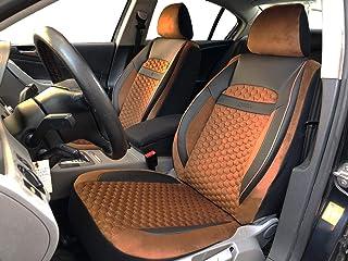 Sitzbezüge K Maniac für Dacia Duster | Universal schwarz braun | Autositzbezüge Set Vordersitze | Autozubehör Innenraum | Auto Zubehör Kunstleder | V2009794 | Kfz Tuning | Sitzbezug | Sitzschoner