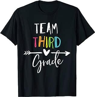 Team third grade t shirt 3rd heart teacher back to school T-Shirt