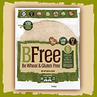 BFree Gluten-Free Wrap Tortillas Multigran Dairy-Free Wheat-Free 8 Inch [2 Packs]