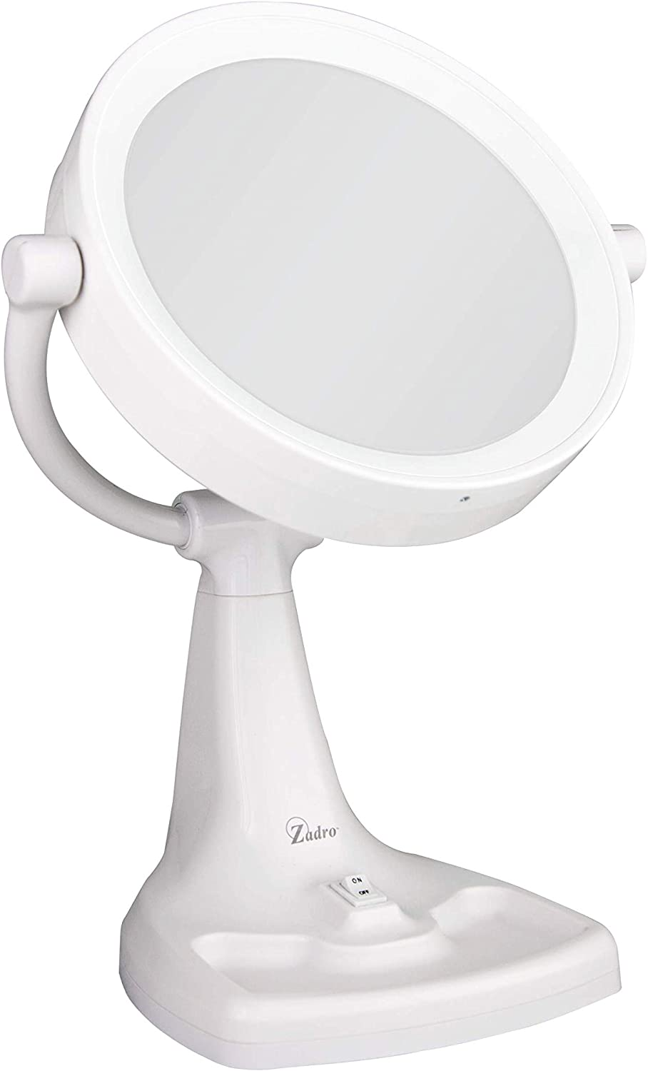 Bright White MAXT110RS 1 Count Zadro Products Zadro Max Bright Sunlight Dual-Sided 10x//1x Magnification Fluorescent Vanity Makeup Mirror in Bright White