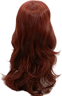 Rogue Long Curly Cosplay Brown Wig Movie Anime Hair Costume Accessories Girls Halloween Prop