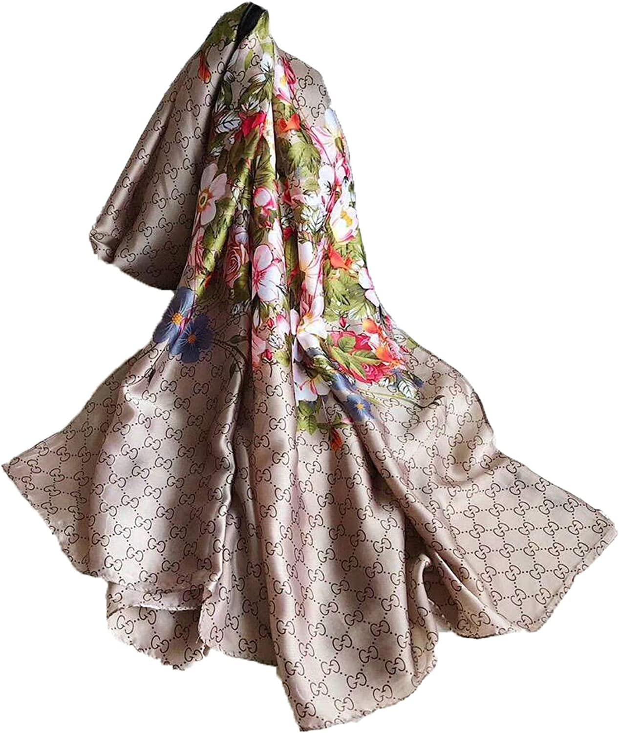 Fashion luxury silk scarves are suitable for women and men in four seasons. Luxury gifts are comfortable to wear anywhere (Z2)