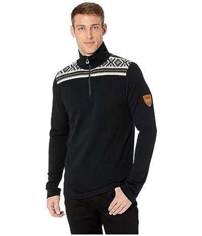 Dale of Norway Cortina Merino Masculine Sweater (F-Black/Off-White) Men