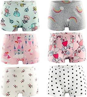 Girls Underwear Cotton Briefs Soft Boyshorts Breathable...