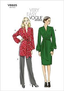 5bc9163d9e Vogue Patterns V8825 - Patrones de Costura para túnicas, Vestidos y  Pantalones de Mujer (