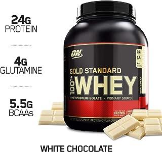 OPTIMUM NUTRITION GOLD STANDARD 100% Whey Protein Powder, White Chocolate, 5 Pound