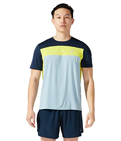 ASICS Race Short Sleeve Top (Smoke Blue/French Blue) Men