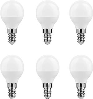 Calugy MiniGlobe - Bombilla led (6 unidades, G45, 6-45 W, E14, 600 lúmenes, luz diurna, intensidad no regulable, luz diurna, intensidad no regulable)
