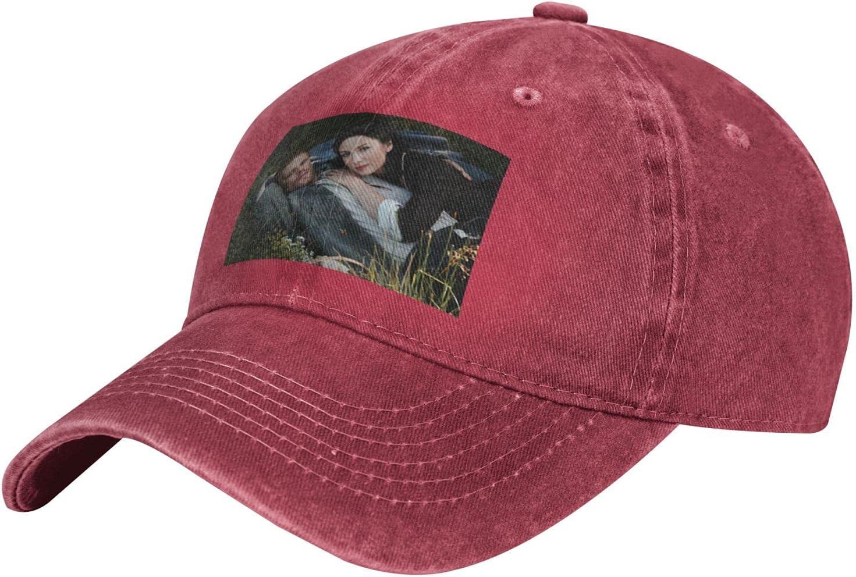 Pcaocmro Outlander Cowboy Hat Unisex Adjustable Hat Circumference Size Pure Cotton Denim Wash Water Outdoor