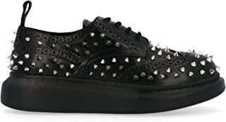 ALEXANDER MCQUEEN Women's 586401WHX541081 Black Leather Lace-Up Shoes