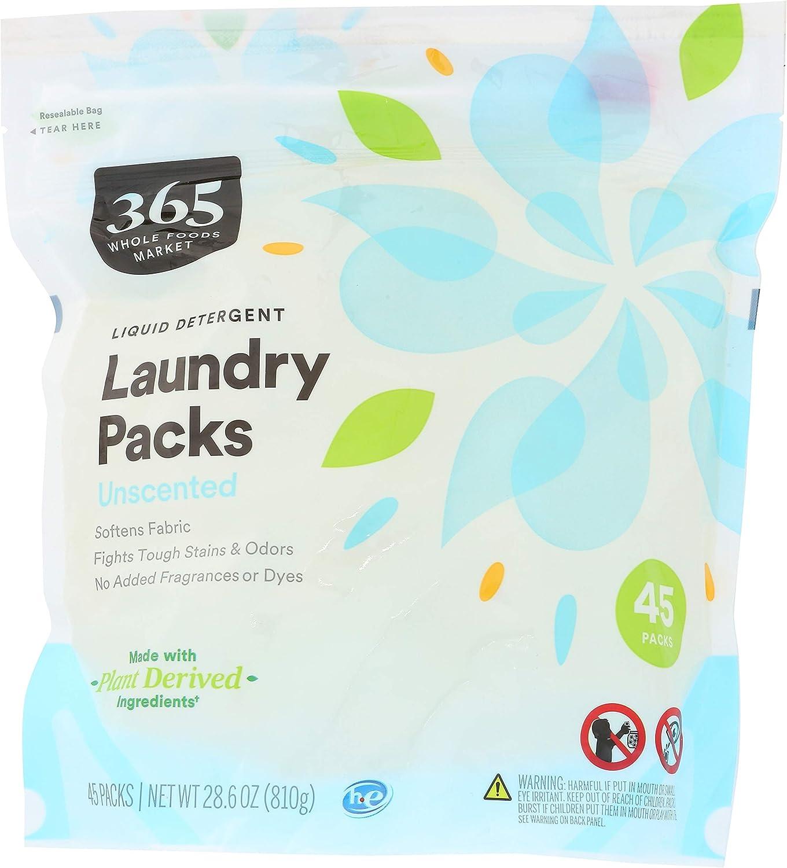 365 Sale item unisex by WFM Laundry Detegrent Pods Count 28 Liquid 45 Unscented