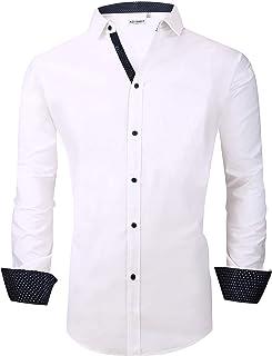 Mens Big & Tall Dress Shirts Regular Fit Long Sleeve Men Shirt