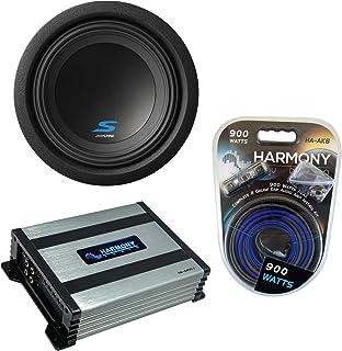 "$209 » Alpine S-W8D4 Car Audio Type S Series Sub 600W Peak 8"" Subwoofer Bundle with Harmony HA-A400.1 Amplifier & Amp Kit"