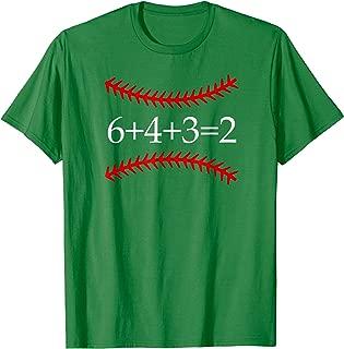 6 4 3 2 Baseball Math Shirt   Cute Softball Game Tee Gift
