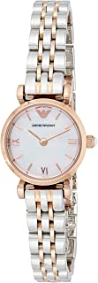 Emporio Armani Women's White Dial Stainless Steel Band Watch - Ar1764, Multicolour Band, Analog Display