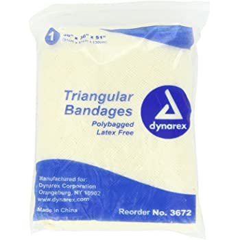 Dynarex Triangular Bandage 36x36x51, 12 Count