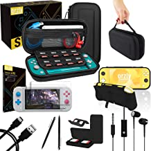 Orzly Switch Lite Accessories Bundle - Includes Carry case & Screen Protector for Nintendo Switch Lite Console (2019), USB...