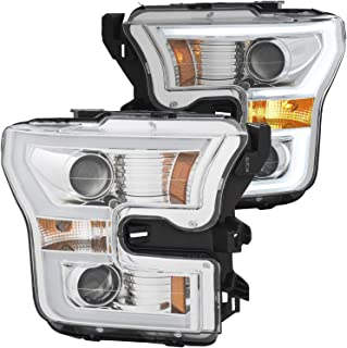 AnzoUSA 111358 Ford F-150 15-17 Projector Plank Style Switchback H.L. Chrome/Amber