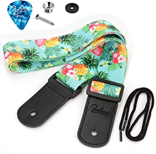 BestSounds Pineapple Ukulele Strap & Hawaiian Style Shoulder Strap Suitable for Soprano Concert Tenor Baritone String Inst...