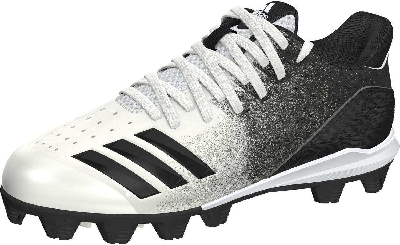 adidas Icon 4 Md K White/Black Baseball Shoes (G26698)