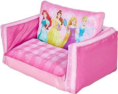 PEGANE Canapé Enfant Convertible Gonflable Motif Disney Princesses - Dim : H26 x L68 x P105 cm