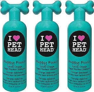 Pet Head 3 Pack of Puppy Fun!! Tearless Shampoo, 16.1 Ounces Each, Yummy Orange