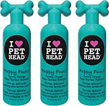 product image for Pet Head 3 Pack of Puppy Fun!! Tearless Shampoo, 16.1 Ounces Each, Yummy Orange
