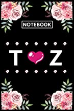 Notebook Z T: Lined Awesome Gift for Monogram first Letter Z T of name alphabet Flowers Notebook, Pretty Floral Diary Jour...