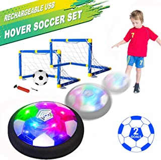Kids Toys Hover Soccer Ball Set with 2 Goals, Air Soccer...