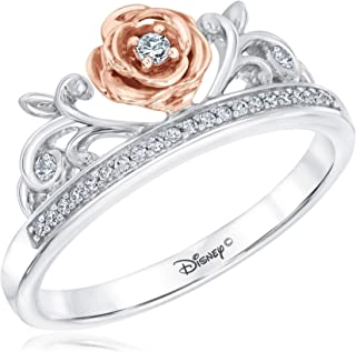 Enchanted Fine Jewelry Diamond Belle Princess Ring 1/10ctw