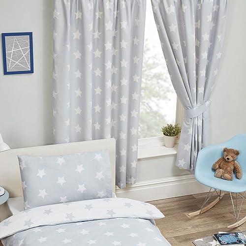 Grey Kids Curtains: Amazon.co.uk