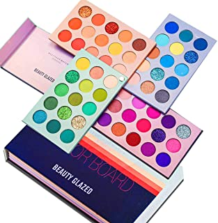 Beauty Glazed Color Board Eyeshadow Palette Eyes Shadow 60 Color Makeup Palette Highlighters Eye Make Up High Pigmented Professional Eye Shadow Mattes and Shimmers Long Lasting Blendable Waterproof