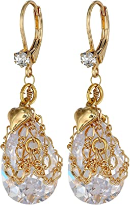 Betsey Johnson Crystal Drop