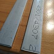 Korn 240 L/änge 1000 mm Abmessungen 100 x 8 mm FRACHTFREI Edelstahl Flachstahl V2A Oberfl/äche geschliffen